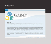 Ecosim Software Website